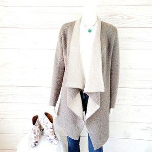 Zara knit soft and fuzzy blanket waterfall cardi